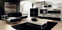 ТВ секция в черно и бяло