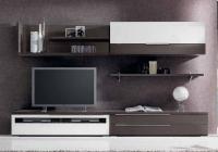 ТВ секция в бяло и венге