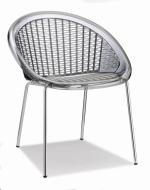 Дизайнерски стол прозрачно сив