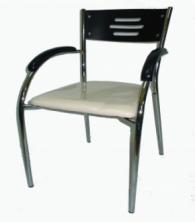 Стол с подлакътници в черно