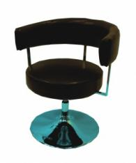 Бар стол с тапицерия в черно