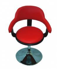 Бар стол в червено и черно