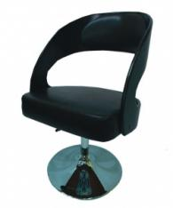 Тапициран бар стол в кафяво и черно