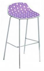 Бар стол във виолетово и бяло
