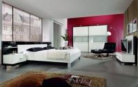 Луксозна спалня от пдч в бяло и черно