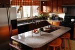 Луксозен кухненски плот - изработен от мрамор