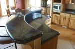 Изработени от гранит заоблени кухненски плотове