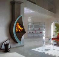 Дизайнерски камини със специална форма