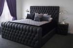 Легло Chesterfield в черен цвят