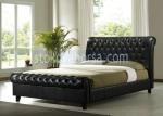 черни луксозни легла Chesterfield