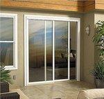 модерна плъзгаща стъклена врата