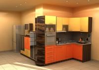 заказная кухня со встроенной техникой