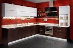 обставление заказной мебелью  для современных кухонь