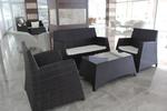 Маси и столове от ратан антрацит за къща