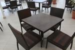 Стилни маси и столове от ратан антрацит