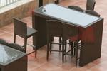 Луксозни бар столове от ратан за заведения