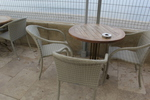 Маси и столове ратан бежови за къща