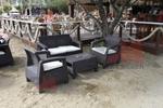 Екзотични маси и столове ратан за плаж