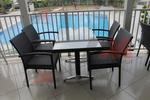 Маси и столове ратан за плаж на басейн