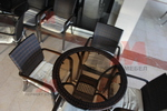 Дизайнерски маси и столове от ратан антрацит