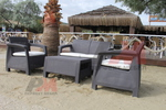 Маси и столове от ратан за море