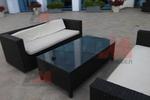 Стилни маси и столове от черен ратан