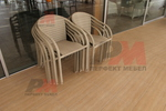 Красиви маси и столове ратан бежови