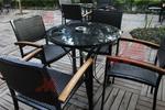 Уникални маси и столове от черен ратан