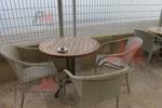 Маси и столове от ратан бежови в различни цветове и плетки