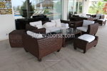 Качествени маси и столове от тъмен ратан