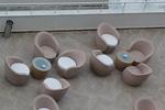 Дизайнерски маси и столове ратан бежови