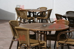 Екзотични столове от ратан за ресторанти