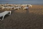 Модерен плажен шезлонг за голям плаж