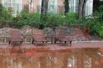 Дървен шезлонг за заведение