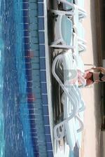 Шезлонги за малък басейн с текстилен