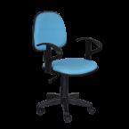 Офис стол светло син