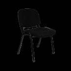 Посетителски стол черен