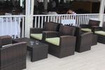 Маси и столове от изкуствен ратан в различни цветове и плетки
