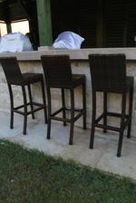 Бар столове от ратан за заведения