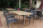 Качествени маси и столове ратан за кафенета
