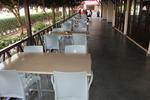 Пластмасови столове за басейн, с различни цветове
