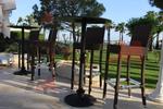 Стилни бар столове от ратан за заведения