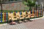 Пластмасов стол за лятно заведение, за бар