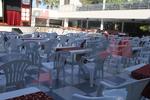 Пластмасов стол за ресторант, за външно ползване