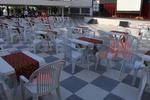 Пластмасови бели столове, за градината