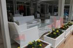 Лукс маси и столове от бял ратан