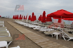 Шезлонги за малък плаж, текстилни