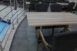 Плотове за маса за кафене от верзалит