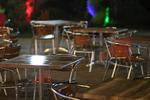 Устойчиви верзалитови плотове за миса за бар на плажа