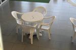 Пластмасова маса за градина за кафене